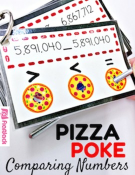 Pizza Poke Place Value Comparing Numbers Game - CCSS 4.NBT.A.2