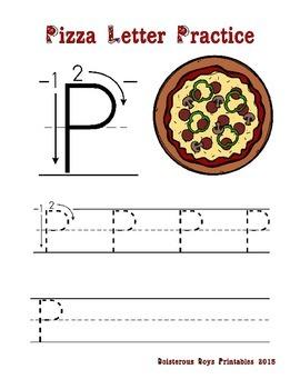 Pizza PreK Printable Pack