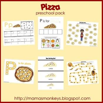 Pizza Preschool Pack