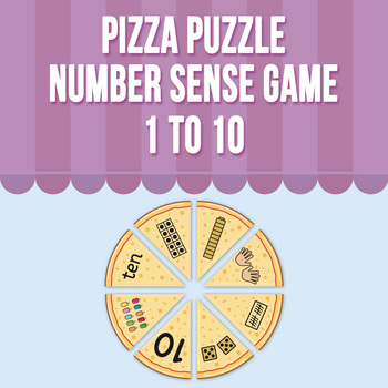 Pizza Puzzle- Number Sense Game  1 to 10