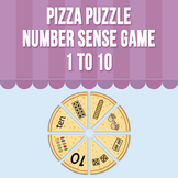 Pizza Puzzle - Number Sense Game 1 to 10