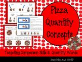Pizza Quantity Concepts: Targeting Comparison Skills & Quantity Words