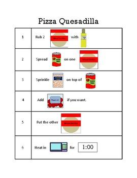Pizza Quesadilla Visual Recipe