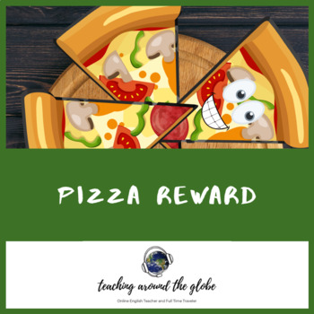 Online Classroom Pizza Reward Printable  (TWO designs included)
