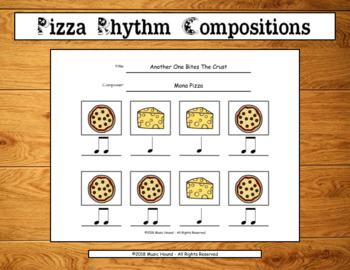 Pizza Rhythm Compositions - Quarter/Eighth Notes Edition
