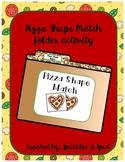 Pizza Shape Match File Folder Game