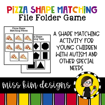 Pizza Shape Match File Folder Game for Early Childhood Special Education
