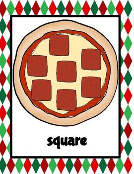 Pizza Shape Playdough Mats