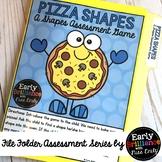 Pizza Shapes! File Folder Assessment Game [Shapes]