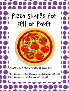 Pizza Shapes for Felt or Paper