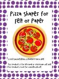 Pizza Shapes for Felt or Paper