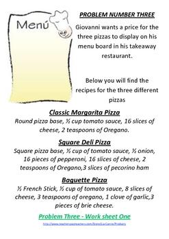 Pizza Shop Fractions - Math Problem Solving