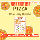 Pizza Shop Role Play - Customized Pizza Order Sheet