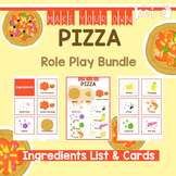 Pizza Shop Role Play - Ingredients List & Cards