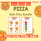 Pizza Shop Role Play - Pizza Combo Order Sheet