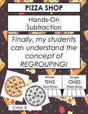Pizza Shop - Teaching Subtraction with and without Regrouping