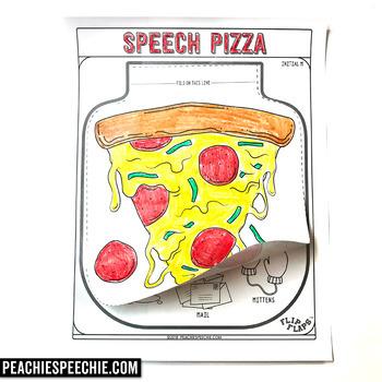 Pizza Speech and Language Flip Flap Craft