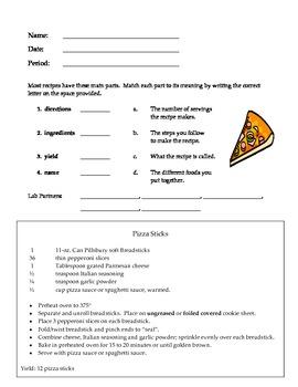 Pizza Sticks Lab