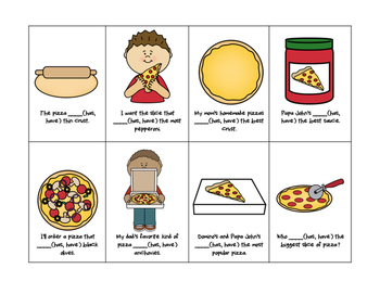 Pizza Subject-Verb Agreement
