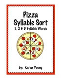 Pizza  Syllable Sort--1, 2 & 3 Syllable Words