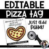 EDITABLE Pizza Teacher Appreciation Tags Free