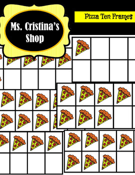 Pizza Ten Frame Clip Art
