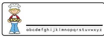 Pizza Theme Desk Nameplates (Set of Four)