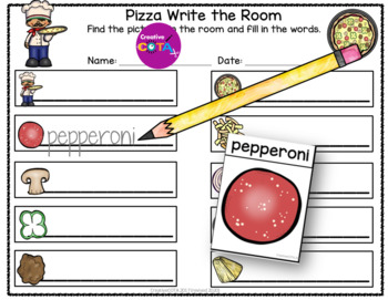 Pizza Theme Literacy and Writing Differentiated