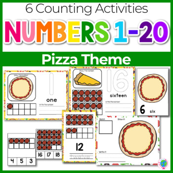 Pizza Theme Numbers 1-20 Counting Activities | Counting to 20 | Math Centers