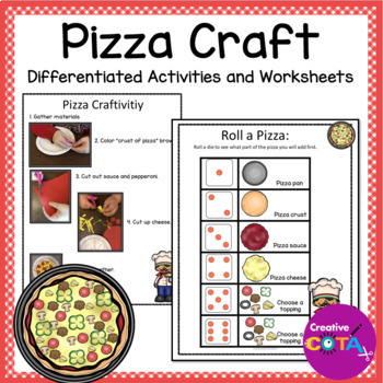 Pizza Theme Roll a Pizza and a Craftivity