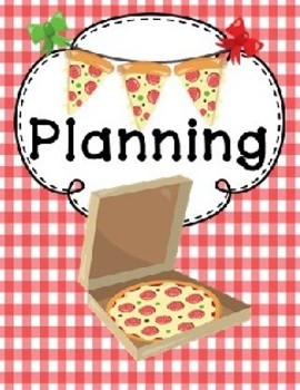 Pizza Themed Binder Covers