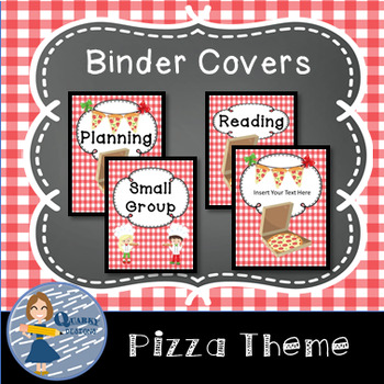 Pizza Themed Binder Covers { FREEBIE }