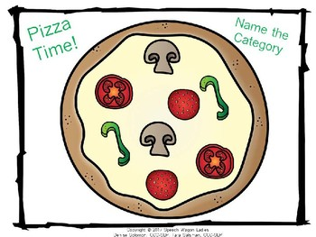 Name the category: Pizza Time! for Speech-Language Therapy