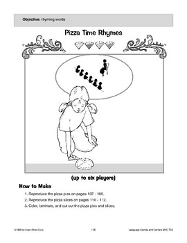 Pizza Time Rhymes (rhyming words)