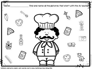 Pizza Time Speech - No Prep Articulation Worksheets for Speech Therapy