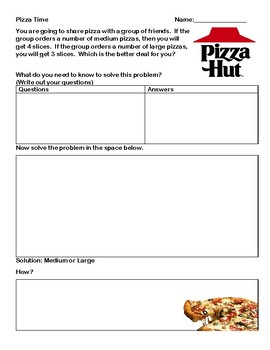 Pizza Time - Using Area of Sectors and Arc Length in Circles