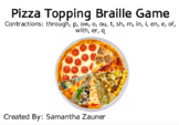 Pizza Topping Braille Game