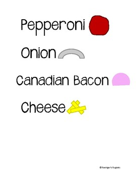 Pizza Topping Labels