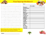 Pizza Toppings Food Wordsearch Puzzle Sheet Cheese Food Science Nutrition