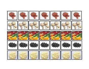 Pizza Toppings Patterning: File Folder Activity