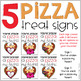 Pizza Treat Signs for Valentine's Day
