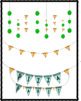 Pizza & Turtle Shell Dangle Banner Clipart