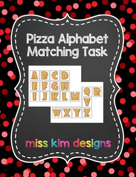 Pizza Uppercase Alphabet Matching Folder Game