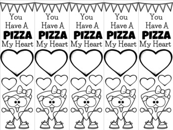 Pizza Valentine Girl bookmark