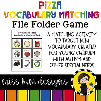 Pizza Vocabulary Folder Game for Special Education
