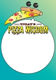 Pizza Wisdom Poster - Inspiring and Interactive Poster Cla