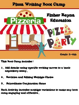 Pizza Writing Boot Camp Grade 3-6