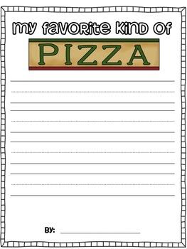 Pizza Writing Fun!