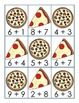 Pizza and Soda Addition Fact Match 1.OA.6