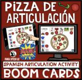 Pizza de Articulación Spanish Articulation BOOM Cards for